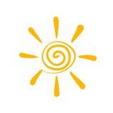Het symbool van de zon vector illustratie
