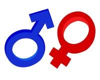 Het symbool van een man en een vrouw Stock Foto