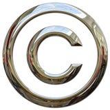Het symbool van het auteursrecht Stock Foto's