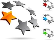 Het symbool van het bedrijf. stock illustratie