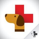 Het Symbool van het de kliniekpictogram van de hondgezondheidszorg Stock Foto's