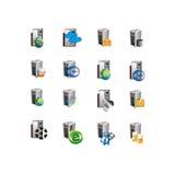Het symbool van het de serverpictogram van het inzamelingsweb Stock Foto's