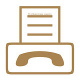 Het symbool van het faxapparaat Stock Foto's