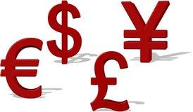 Het symbool van het geld. Stock Foto