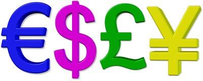 Het symbool van het geld. Stock Fotografie