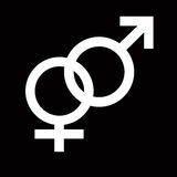 Het symbool van het geslacht Stock Afbeeldingen
