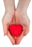 Het symbool van het hart in handen Royalty-vrije Stock Foto's