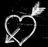 Het symbool van het hart op zwarte. Royalty-vrije Stock Afbeeldingen
