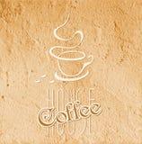 Het symbool van het koffiehuis Stock Foto's