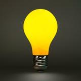 Het symbool van het Lightbulbidee 3d vectorillustratie Stock Afbeeldingen