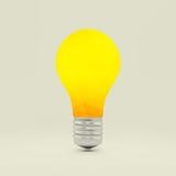 Het symbool van het Lightbulbidee 3d vectorillustratie Stock Foto