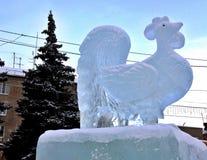 Het symbool van het nieuwe ijs van de jaarhaan Royalty-vrije Stock Fotografie