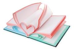 Het symbool van het notitieboekje en van het hart | Geïsoleerdj Royalty-vrije Stock Foto