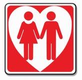 Het Symbool van het Paar van de liefde Stock Afbeelding