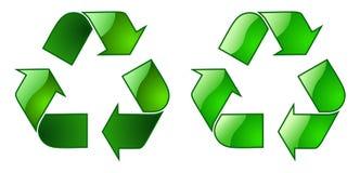 Het Symbool van het Recycling van Keyable stock afbeelding