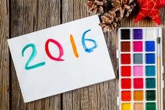 Het symbool van het tekeningsjaar op papier Stock Afbeelding