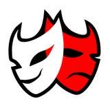 Het symbool van het theatermasker Stock Foto's