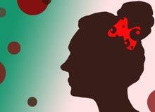 Het symbool van het vrouwengezicht Stock Afbeeldingen