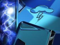 Het Symbool van het weer - bliksem Royalty-vrije Stock Foto's