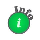 Het symbool van info Stock Foto
