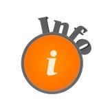 Het symbool van info Royalty-vrije Stock Afbeeldingen