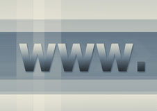 Het symbool van Internet www vector illustratie