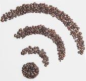 Het symbool van koffiewifi Royalty-vrije Stock Afbeelding