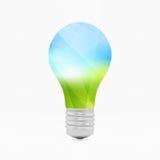 Het symbool van Lightbulbeco 3d vectorillustratie Royalty-vrije Stock Afbeelding