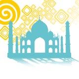 Het symbool van Mahal van Taj aan India Stock Afbeeldingen