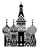 Het symbool van Moskou - de Kathedraal van het Basilicum van Heilige, Rusland stock illustratie