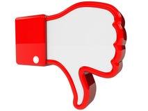 Het symbool van negatief koppelt terug Stock Afbeelding