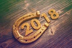 het symbool van 2018 van Nieuwjaar Royalty-vrije Stock Foto's