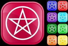 Het symbool van Pentagram Royalty-vrije Stock Afbeeldingen