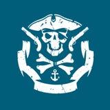 Het symbool van piraten Stock Foto's