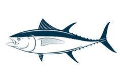 Het symbool van tonijnvissen op witte achtergrond, Vector Royalty-vrije Stock Foto's