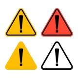 Het symbool van het uitroepteken, Waarschuwend Gevaarlijk pictogram op witte achtergrond vector illustratie