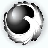 Het symbool van vliegende vogels stock fotografie