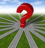 Het symbool van vragen en van strategieën Stock Foto