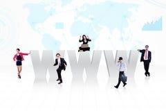 De commerciële mensen van Internet Stock Foto's