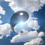 Het Symbool van Yang van Yin Royalty-vrije Stock Afbeelding