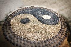 Het Symbool van Yang van Yin stock foto's