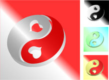 Het symbool van Yang van Yin Stock Afbeeldingen