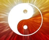 Het symbool van Yang van Yin Royalty-vrije Stock Afbeeldingen