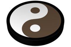 Het Symbool van Yang van Yin het 3d teruggeven Royalty-vrije Stock Afbeelding