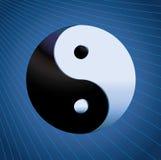 Het Symbool van Yang van Ying op blauwe achtergrond Stock Afbeelding