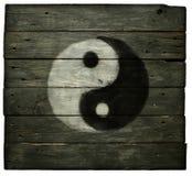 Het Symbool van Yang van Yin stock fotografie