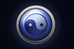 Het symbool van Yin yang Stock Foto's