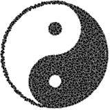 Het symbool van Ying yang Stock Foto's