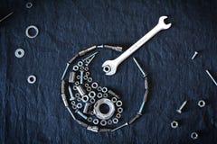 Het symbool van Ying yang stock afbeeldingen