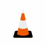 Het symbool vectorontwerp van de verkeerskegel Stock Foto's